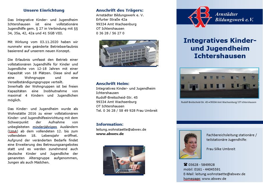 Flyer Integratives Kinder- und Jugendheim